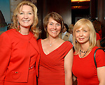 Carol Linn, Julia Ellis and Paula Beasley at the American Heart Association Go Red for Women luncheon at the InterContinental Houston Monday May 04,2009.  (Dave Rossman/For the Chronicle)