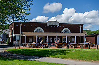 A general view of The Junction Cafe at Blackpill Lido, Swansea, Wales, UK. Thursday 06 June 2019