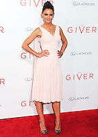 NEW YORK CITY, NY, USA - AUGUST 11: Actress Katie Holmes arrives at the New York Premiere Of The Weinstein Company's 'The Giver' held at the Ziegfeld Theatre on August 11, 2014 in New York City, New York, United States. (Photo by Celebrity Monitor)