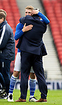 St Johnstone v Hibs…22.05.21  Scottish Cup Final Hampden Park<br />An emotional David Wotherspoon embraces manager Callum Davidson at full time<br />Picture by Graeme Hart.<br />Copyright Perthshire Picture Agency<br />Tel: 01738 623350  Mobile: 07990 594431