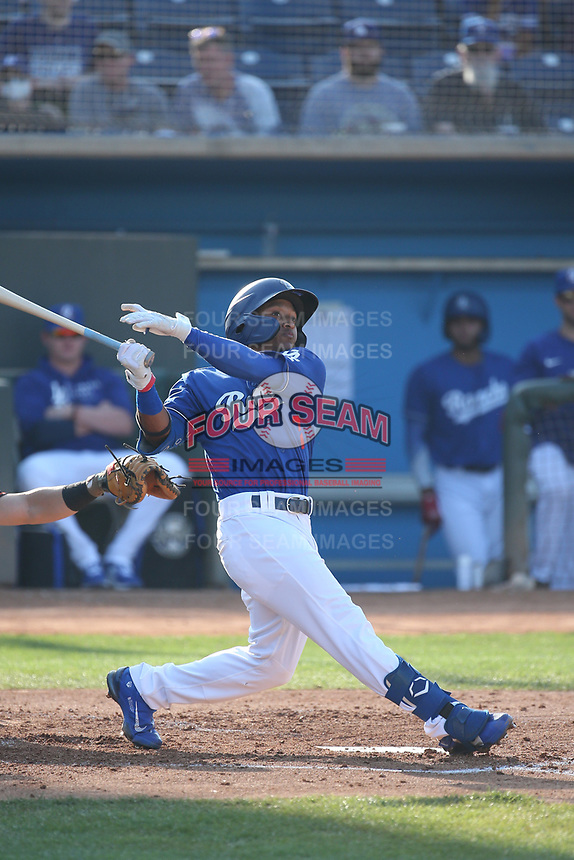 Edwin Mateo (7) of the Rancho Cucamonga Quakes pitches against the San Jose Giants at LoanMart Field on August 22, 2021 in Rancho Cucamonga, California. (Larry Goren/Four Seam Images)