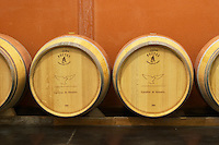 Oak barrel aging and fermentation cellar. Chateau Paloumey, Haut Medoc, Bordeaux, France.
