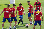David Villa during the training of the spanish national football team in the city of football of Las Rozas in Madrid, Spain. August 28, 2017. (ALTERPHOTOS/Rodrigo Jimenez)