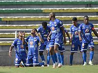 PALMIRA - COLOMBIA, 21-09-2021: Orsomarso S.C. y Boyacá Chicó F.C. en partido por la fecha 9 del Torneo BetPlay DIMAYOR II 2021 jugado en el estadio Francisco Rivera Escobar de la ciudad de Palmira. / Orsomarso S.C. and Boyaca Chico F.C. in match for the date 9 as part of BetPlay DIMAYOR Tournament II 2021 played at Francisco Rivera Escobar stadium in Palmira city. Photo: VizzorImage / Jorge Rotavisky / Cont