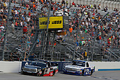 #18: Noah Gragson, Kyle Busch Motorsports, Toyota Tundra Safelite #21: Johnny Sauter, GMS Racing, Chevrolet Silverado Allegiant Airlines