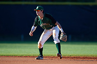 Dartmouth Big Green shortstop Nate Ostmo (5) during a game against the Northeastern Huskies on March 3, 2018 at North Charlotte Regional Park in Port Charlotte, Florida.  Northeastern defeated Dartmouth 10-8.  (Mike Janes/Four Seam Images)
