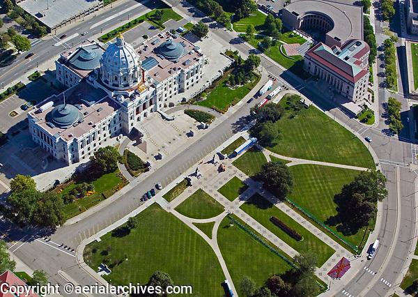 aerial photograph of the Minnesota State Capitol building, Saint Paul, Minnesota