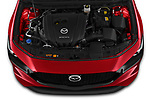Car stock 2019 Mazda Mazda3 Skycruise 5 Door Hatchback engine high angle detail view