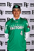 Jorge Lucero (4) of Chula Vista High School in Chula Vista, California during the Baseball Factory All-America Pre-Season Tournament, powered by Under Armour, on January 12, 2018 at Sloan Park Complex in Mesa, Arizona.  (Mike Janes/Four Seam Images)