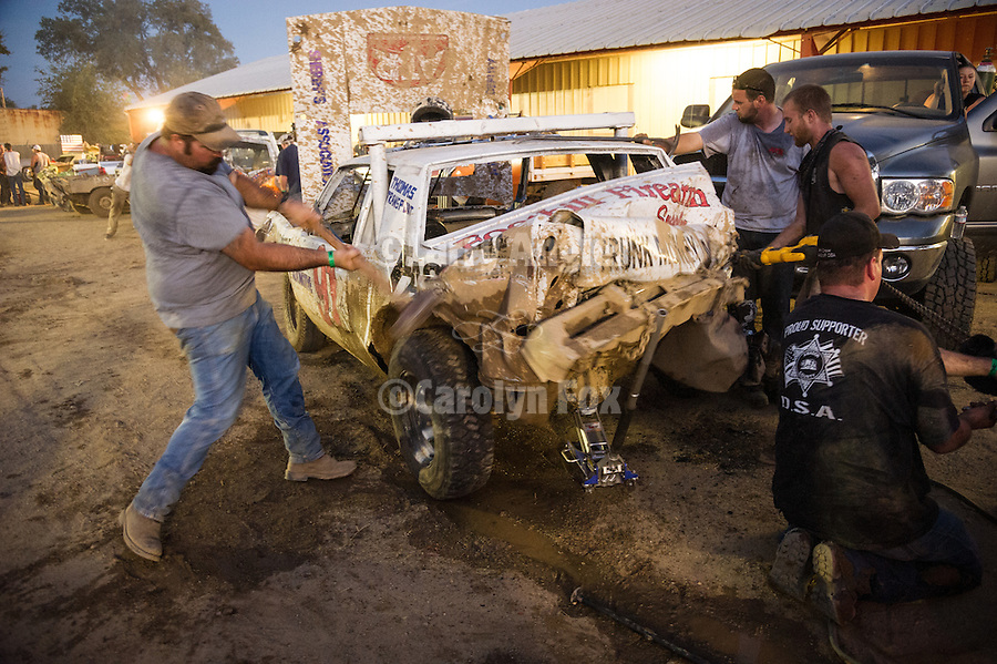 4th day of the 76th Amador County Fair, Plymouth, Calif.<br /> <br /> Annual Destruction Derby--fast repairs between the heats