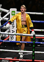 MIAMI GARDENS FL - JUNE 06: Logan Paul enters the ring as Floyd Mayweather Vs Logan Paul during their contracted exhibition boxing match at Hard Rock Stadium in Miami Gardens on June 6, 2021 in Miami Gardens, Florida. <br /> CAP/MPI04<br /> ©MPI04/Capital Pictures