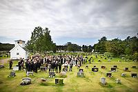 Melbu, 20110803. Begravelse for Henrik Rasmussen (18) fra Melbu. Terror i Utøya. Foto: Eirik Helland Urke / Dagbladet