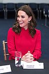 © Joel Goodman - 07973 332324. 06/12/2017 . Manchester , UK . KATE MIDDLETON at a discussion event hosted by the Sesame Street producers . The Duke And Duchess Of Cambridge, Prince William and Kate Middleton, attend the Children's Global Media Summit at the Manchester Central Convention Centre . Photo credit : Joel Goodman
