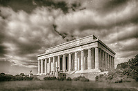 Lincoln Memorial Washington DC<br /> Washington DC Photography Black and White Photography Washington DC Art - - Framed Prints - Wall Murals - Metal Prints - Aluminum Prints - Canvas Prints - Fine Art Prints Washington DC Landmarks Monuments Architecture