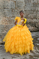 Girl in yellow dress, Havana, Cuba, 2009
