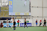 The Hague, Netherlands, June 03: Large video screen during the field hockey group match (Men - Group B) between South Africa and the Black Sticks of New Zealand on June 3, 2014 during the World Cup 2014 at GreenFields Stadium in The Hague, Netherlands. Final score 0:5 (0:3) (Photo by Dirk Markgraf / www.265-images.com) *** Local caption ***