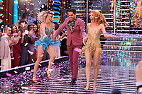"""Ashley Roberts, Ranj Singh and Stacey Dooley<br /> at the launch of """"Strictly Come Dancing"""" 2018, BBC Broadcasting House, London<br /> <br /> ©Ash Knotek  D3426  27/08/2018"""