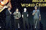 (L-R) Ken Chu, Jay Chou, Feng Xiaogang, and Allen Iverson during the Opening Ceremony of the the World Celebrity Pro-Am 2016 Mission Hills China Golf Tournament on 20 October 2016, in Haikou, China. Photo by Weixiang Lim / Power Sport Images