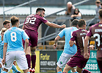 Forfar v St Johnstone…28.07.18…  Station Park    Betfred Cup<br />Tony Watt heads in for saints to make it 1-1<br />Picture by Graeme Hart. <br />Copyright Perthshire Picture Agency<br />Tel: 01738 623350  Mobile: 07990 594431