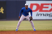 Dunedin Blue Jays shortstop Orelvis Martinez (11) during a game against the Tampa Tarpons on May 7, 2021 at George M. Steinbrenner Field in Tampa, Florida.  (Mike Janes/Four Seam Images)