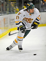 19 January 2008: University of Vermont Catamounts' forward Chris Atkinson, a Freshman from Sparta, NJ, in action against the Northeastern University Huskies at Gutterson Fieldhouse in Burlington, Vermont. The Catamounts defeated the Huskies 5-2 to close out their 2-game weekend series...Mandatory Photo Credit: Ed Wolfstein Photo
