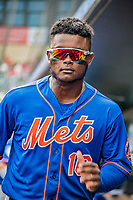 28 February 2019: New York Mets infielder Dilson Herrera stands in the dugout prior to a Spring Training game against the St. Louis Cardinals at Roger Dean Stadium in Jupiter, Florida. The Mets defeated the Cardinals 3-2 in Grapefruit League play. Mandatory Credit: Ed Wolfstein Photo *** RAW (NEF) Image File Available ***