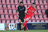 Dan Happe of Leyton Orient and Kurtis Guthrie of Port Vale during Leyton Orient vs Port Vale, Sky Bet EFL League 2 Football at The Breyer Group Stadium on 20th February 2021