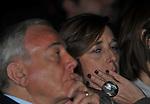 GIANNI LETTA E ISABELLA RAUTI<br /> MANIFESTAZIONE PER I 10 ANNI DELL'AUDITORIUR PARCO DELLA MUSICA ROMA 2013