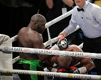 Schiller ''batman'' Hyppolite fight and defeat Darnell Boone in the medium-heavy<br /> category,  March 12,2016.<br /> <br /> Photo : Pierre Roussel - Agence Quebec Presse