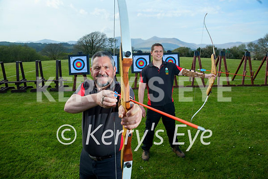 Athos and Sonny Tsiopani in the Archery section of Eclipse Ireland .