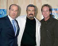 Howard Gordon, Jon Cassar, and Kiefer Sutherland.Fox TV TCA Party.Santa Monica Pier.Santa Monica, CA.July 23, 2007.©2007 Kathy Hutchins / Hutchins Photo....