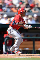 St. Louis Cardinals second baseman Kolten Wong (16) during a spring training game against the Detroit Tigers on March 3, 2014 at Joker Marchant Stadium in Lakeland, Florida.  Detroit defeated St. Louis 8-5.  (Mike Janes/Four Seam Images)