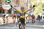 Wout Van Aert (BEL) Team Jumbo-Visma wins the 111th edition of Milan- San Remo 2020, running 305km from Milan to San Remo, Italy. 8th August 2020.<br /> Picture: Stefano Sirotti | Cyclefile<br /> <br /> All photos usage must carry mandatory copyright credit (© Cyclefile | Stefano Sirotti)