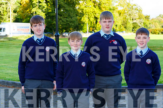 Aindí O'Cathasaigh, Jack Rudden, Adam Lynch-Herlihy and Senan Cotter at the GAelscoil Faithleann NS confirmation on Saturday in St Marys CAthedral