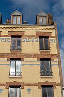 Europe/France/ Normandie/Le Havre : Rue Frédéric Bellanger Facade de Briques  // Europe/France/ Normandy/Le Havre : Rue Frédéric Bellanger  Brick facade