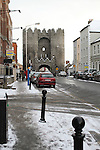 Laurence Gate and Laurence Street in Snow