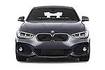 Car photography straight front view of a 2015 BMW 1 Series M Sport 5 Door Hatchback Front View
