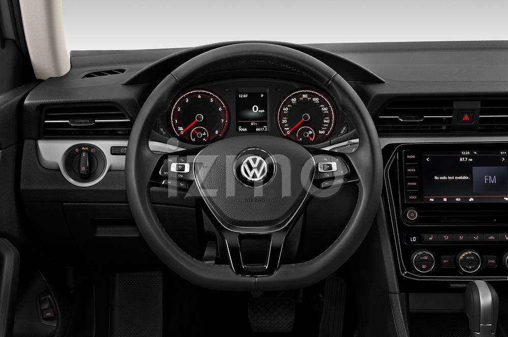 Car pictures of steering wheel view of a 2020 Volkswagen Passat SE 4 Door Sedan Steering Wheel