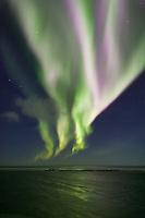 Aurora borealis (northern lights), Beaufort sea, Barter Island, Arctic, Alaska.