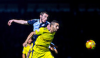 Michael Harriman of Wycombe Wanderers & Liam Sercombe of Oxford United during the Sky Bet League 2 match between Wycombe Wanderers and Oxford United at Adams Park, High Wycombe, England on 19 December 2015. Photo by Andy Rowland.