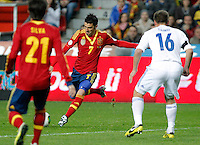 Spain's David Villa during international match of the qualifiers for the FIFA World Cup Brazil 2014.March 22,2013.(ALTERPHOTOS/Victor Blanco)