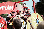 The publicity caravan on the Champs-Elysees during Stage 21 of the 2019 Tour de France running 128km from Rambouillet to Paris Champs-Elysees, France. 28th July 2019.<br /> Picture: ASO/Pauline Ballet   Cyclefile<br /> All photos usage must carry mandatory copyright credit (© Cyclefile   ASO/Pauline Ballet)
