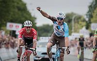 Oliver Naesen (BEL/AG2R-LaMondiale) wins the finish sprint against Sep Vanmarcke (BEL/Cannondale-Drapac) & Jasper Stuyven (BEL/Trek-Segafredo)<br /> <br /> 2017 National Championships Belgium - Elite Men - Road Race (NC)<br /> 1 Day Race: Antwerpen > Antwerpen (233km)