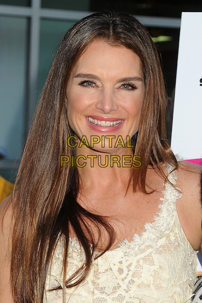 """Brooke Shields<br /> """"The Hot Flashes"""" Los Angeles Premiere held at Arclight Cinemas, Hollywood, California, USA, 27 June 2013.<br /> portrait headshot smiling white cream lace <br /> CAP/ADM/BP<br /> ©Byron Purvis/AdMedia/Capital Pictures"""