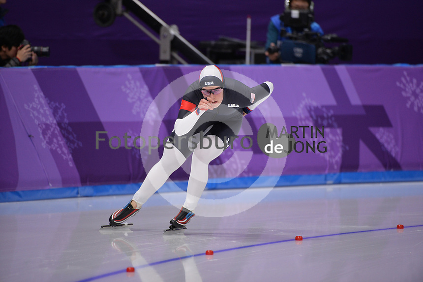 OLYMPIC GAMES: PYEONGCHANG: 16-02-2018, Gangneung Oval, Long Track, 5.000m Ladies, Carlijn Schoutens (USA), ©photo Martin de Jong