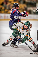9 February 2018: University of Vermont Catamount Forward Kourtney Menches, a Senior from Greer, SC, in first period action against the University of Connecticut Huskies at Gutterson Fieldhouse in Burlington, Vermont. The Lady Cats defeated the Huskies 1-0 the first game of their weekend Hockey East series. Mandatory Credit: Ed Wolfstein Photo *** RAW (NEF) Image File Available ***