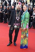 Georg Georgi et une invité sur le tapis rouge pour la projection du film 120 BATTEMENTS PAR MINUTE, soixante-dixième (70ème) Festival du Film à Cannes, Palais des Festivals et des Congres, Cannes, Sud de la France, samedi 20 mai 2017.