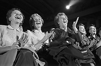 Liberace fans enjoy concert, Milwaukee, 1953. Photographer John G. Zimmerman