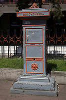 Yogyakarta, Java, Indonesia.  Mail Box from Dutch Colonial Era, in front of Main Post Office.
