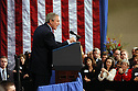 President George W. Bush spoke to supporters during a fundraiser at the National D-Day Museum in New Orleans, Thursday, January 15, 2004..(AP PHOTO/CHERYL GERBER)...